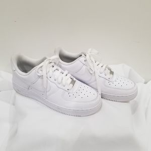 Nike Air Force 1 White Sneakers - Size 7